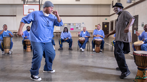 Drumming & Dance at Correctional Training Facility, Soledad - 2018 Oct.