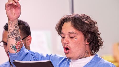 Choir at California Correctional Center, Susanville - 2018 Sept.