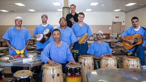 Latin drumming at Avenal State Prison - 2018 May