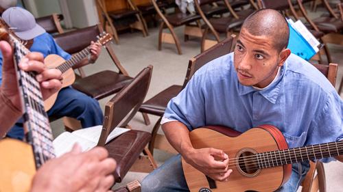 Guitar at North Kern State Prison - 2018 April