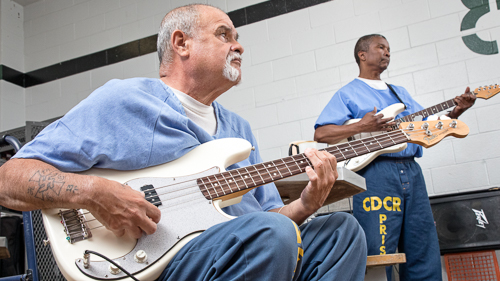 Guitar and Band Class at Solano State Prison - 2017 May