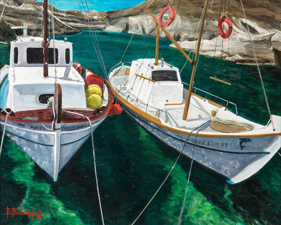Mediterranean Harbor; Bruce Fowler; 10x12; Acrylic/canvas; 2012