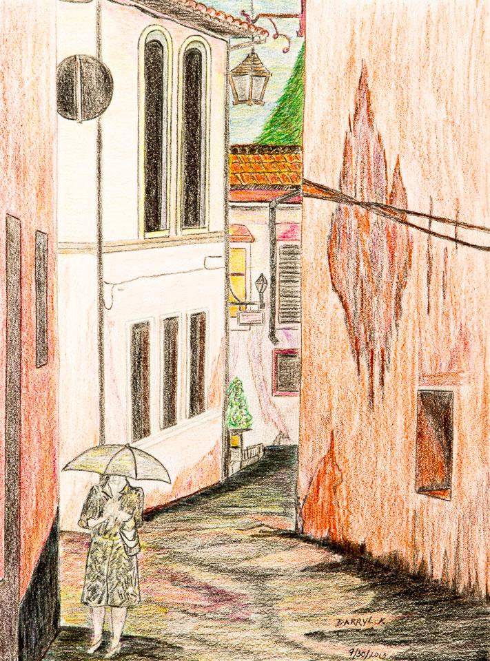 "Take 2; Darryl Kennedy; Color Pencil; 11.5x8.5""; 2013"