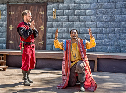 Dameion Brown as Othello, with Marin Shakespeare Company